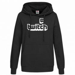 Толстовка жіноча Twitch logotip