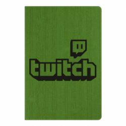 Блокнот А5 Twitch logotip