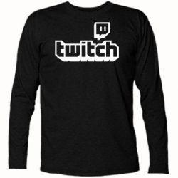 Футболка з довгим рукавом Twitch logotip