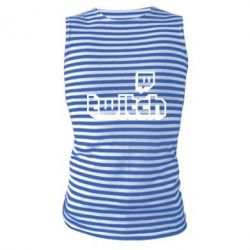 Майка-тільняшка Twitch logotip