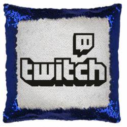 Подушка-хамелеон Twitch logotip