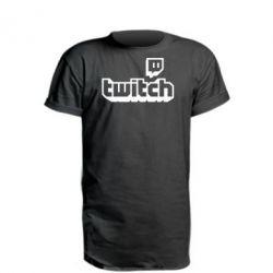 Подовжена футболка Twitch logotip