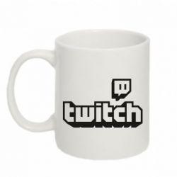 Кружка 320ml Twitch logotip