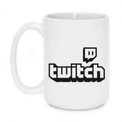 Кружка 420ml Twitch logotip