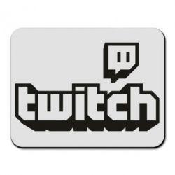 Килимок для миші Twitch logotip