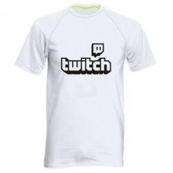 Чоловіча спортивна футболка Twitch logotip