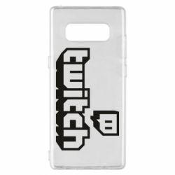 Чохол для Samsung Note 8 Twitch logotip
