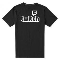 Чоловіча стрейчева футболка Twitch logotip