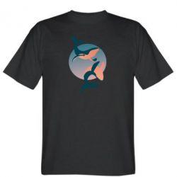 Мужская футболка Two whales