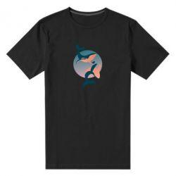 Мужская стрейчевая футболка Two whales