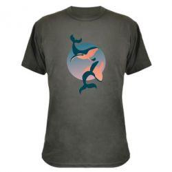 Камуфляжная футболка Two whales