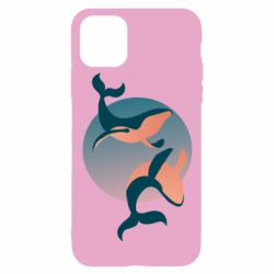 Чохол для iPhone 11 Pro Two whales