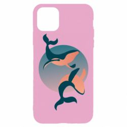 Чехол для iPhone 11 Pro Max Two whales
