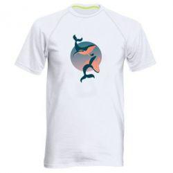 Мужская спортивная футболка Two whales