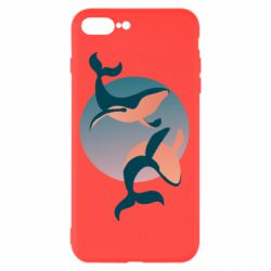 Чехол для iPhone 8 Plus Two whales - FatLine