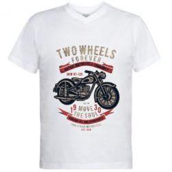 Чоловіча футболка з V-подібним вирізом Two Wheels Forever 1930