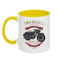 Кружка двоколірна 320ml Two Wheels Forever 1930