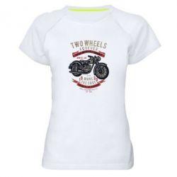 Жіноча спортивна футболка Two Wheels Forever 1930