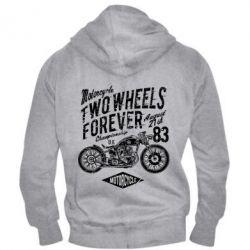 Чоловіча толстовка на блискавці Two Wheels Forever
