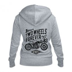 Жіноча толстовка на блискавці Two Wheels Forever