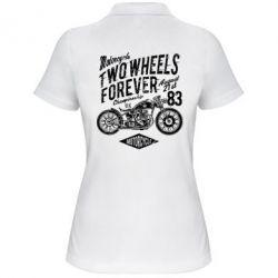 Жіноча футболка поло Two Wheels Forever