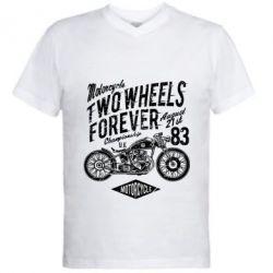 Чоловіча футболка з V-подібним вирізом Two Wheels Forever