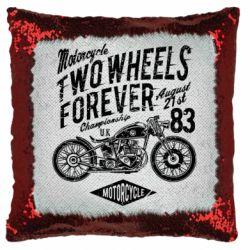 Подушка-хамелеон Two Wheels Forever