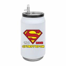 Термобанка 350ml Ты мой супергерой