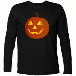 Футболка с длинным рукавом Тыква Halloween - FatLine
