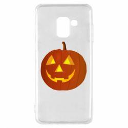 Чохол для Samsung A8 2018 Тыква Halloween