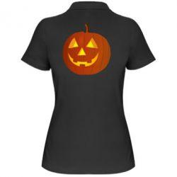 Женская футболка поло Тыква Halloween - FatLine
