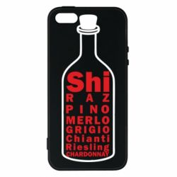 Чохол для iphone 5/5S/SE Types of wine in the bottle