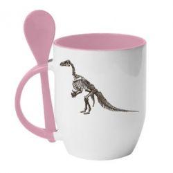 Купить Кружка с керамической ложкой Tyrannosaur, FatLine