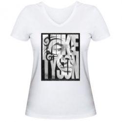 Женская футболка с V-образным вырезом Tyson Art - FatLine