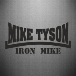 Наклейка Tyson Iron Mike - FatLine