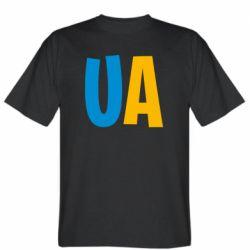 Мужская футболка UA Blue and yellow