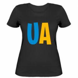 Женская футболка UA Blue and yellow