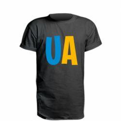 Удлиненная футболка UA Blue and yellow