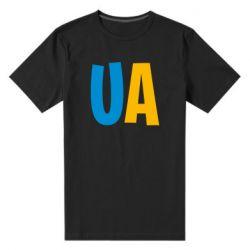 Мужская стрейчевая футболка UA Blue and yellow
