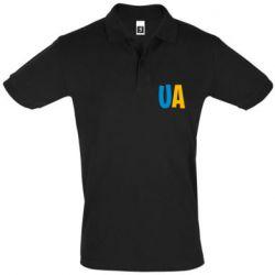 Мужская футболка поло UA Blue and yellow