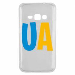 Чехол для Samsung J1 2016 UA Blue and yellow