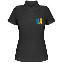 Женская футболка поло UA Blue and yellow