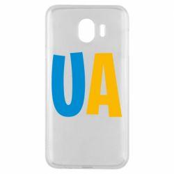 Чехол для Samsung J4 UA Blue and yellow