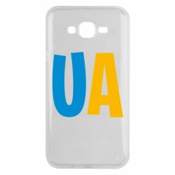 Чехол для Samsung J7 2015 UA Blue and yellow
