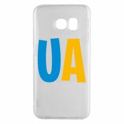 Чехол для Samsung S6 EDGE UA Blue and yellow