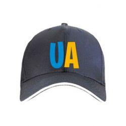 Кепка UA Blue and yellow