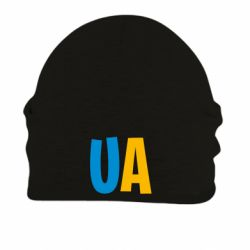 Шапка на флисе UA Blue and yellow