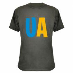Камуфляжная футболка UA Blue and yellow