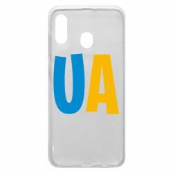 Чехол для Samsung A20 UA Blue and yellow