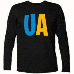 Футболка с длинным рукавом UA Blue and yellow